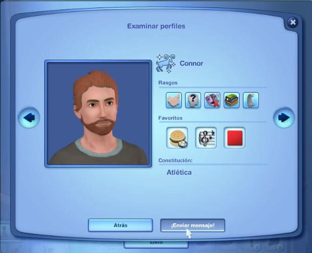 Perfil online sims