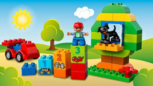 Bé tự vẽ nên cho nhình những hình ảnh đáng yêu từ bộ xếp hình Lego Duplo 10572