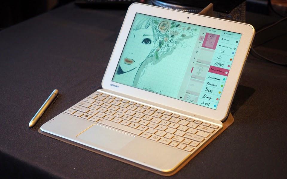 Tablet giá rẻ của Toshiba đi kèm bút cảm ứng Wacom - 59318