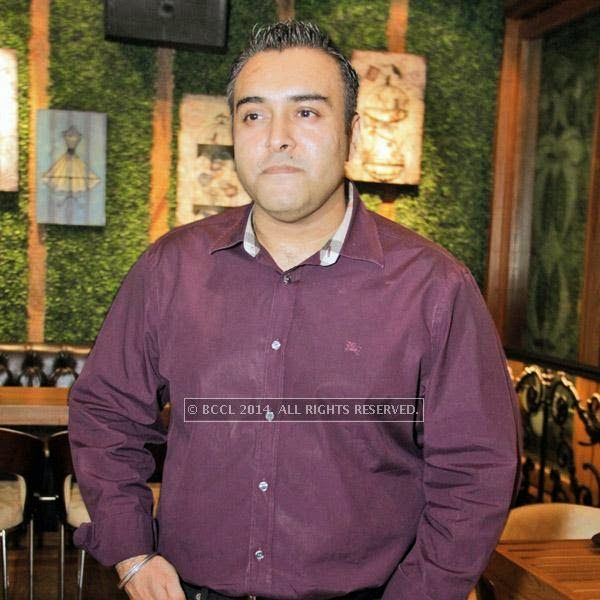 Zorawar Kalra during the party at Farzi Cafe, held in Gurgaon.