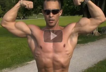 Bodybuilder Outdoor Posing