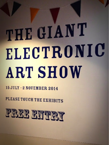 The Giant Electronic Art Show sign