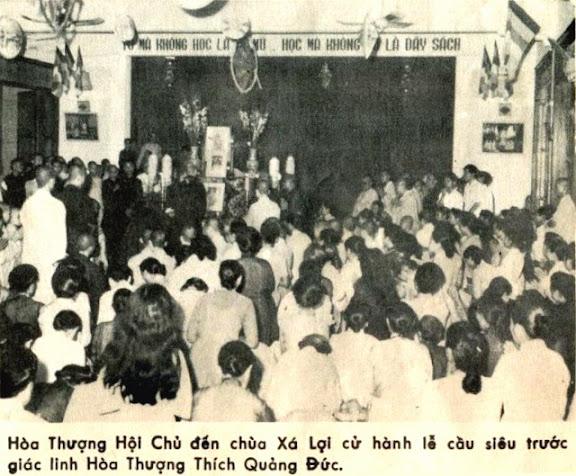 Hồ sơ Pháp Nạn: Đạo Từ của HT Hội Chủ THPGVN gởi Tăng Ni Phật Tử sau ngày Hòa Thượng Thích Quảng Đức tự thiêu