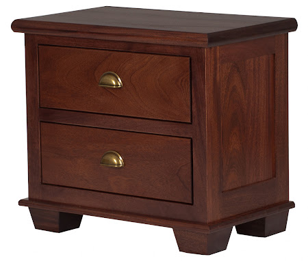 Matching Furniture Piece: Monrovia Nightstand with Drawers, in Custom Mahogany (exotic hardwood)