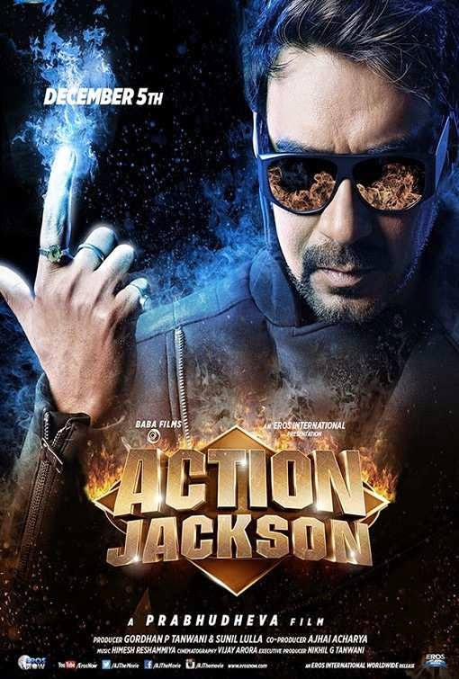 Poster Of Hindi Movie Action Jackson (2014) Free Download Full New Hindi Movie Watch Online At Alldownloads4u.Com