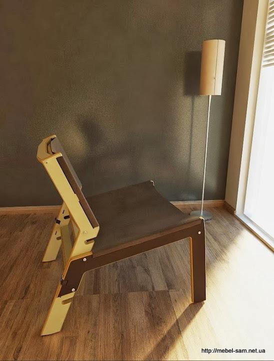 INDU - фанерный стул с регулировкой под любое настроение