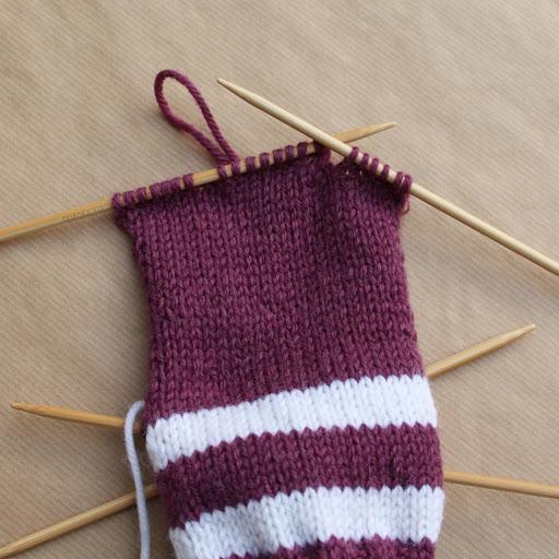 棒针教程:从袜腰开始织的袜子(研究班) - maomao - 我随心动