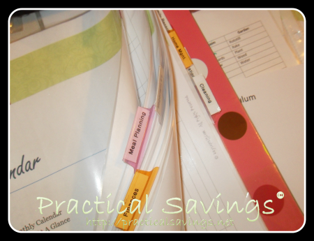 getting it together binder making - practicalsavings.net