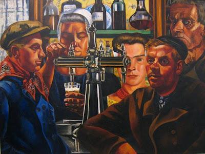 Charley Toorop - Aan de toog, 1933