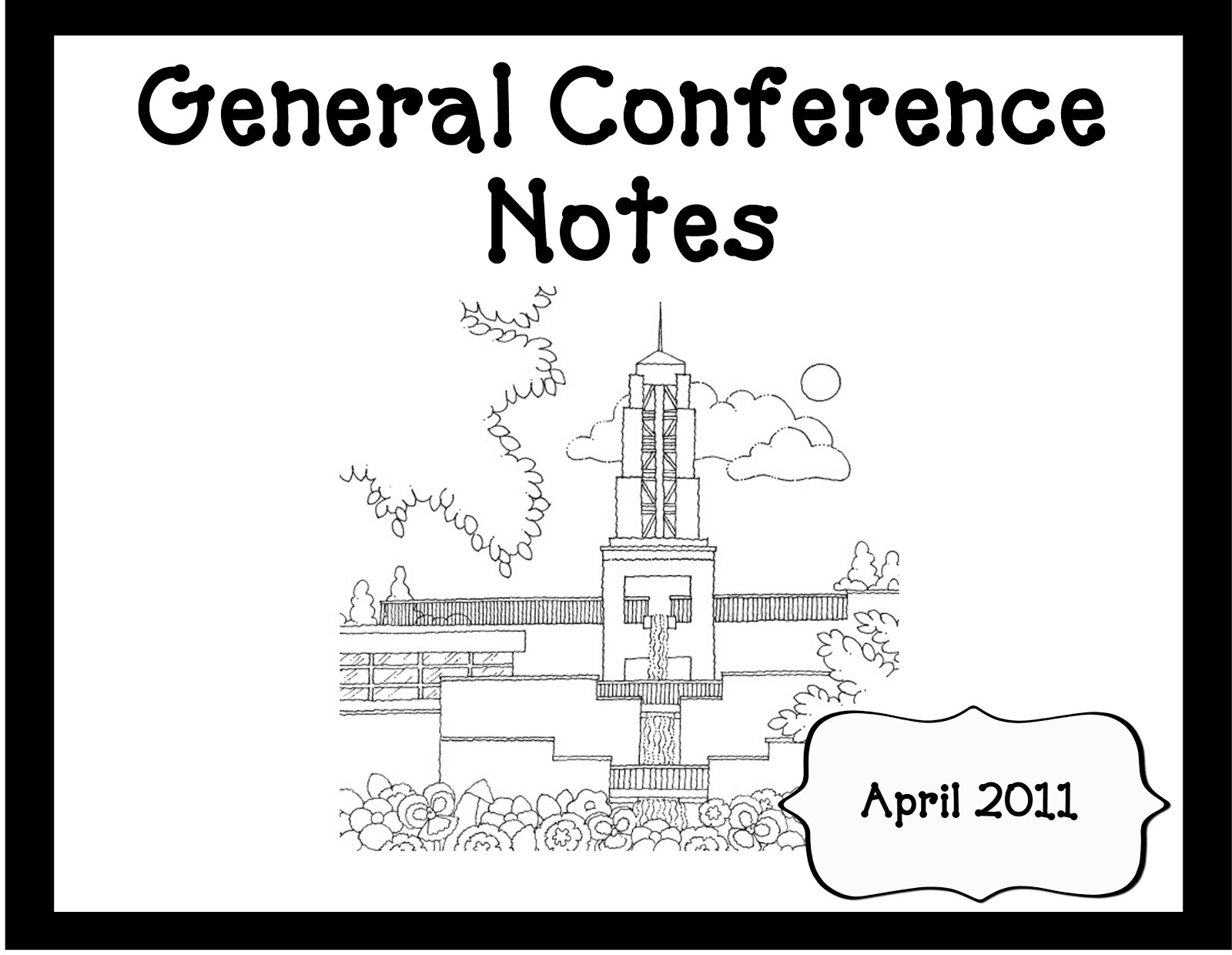 general conference notes oopsey daisy