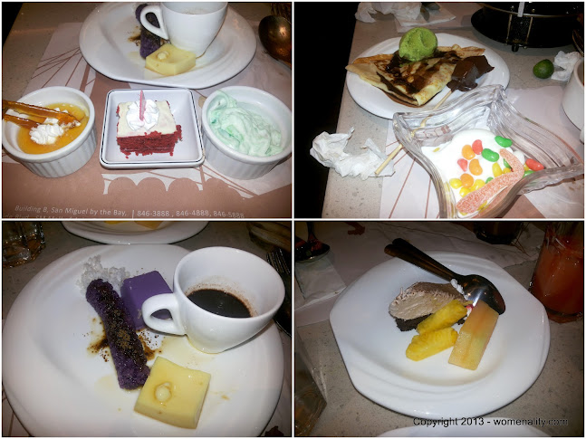 Desserts on our table - Vikings - The Block, SM North, Puto Bumbong, yogurt, red velvet cake, fresh fruits