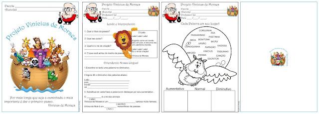 Caderno de Atividades Projeto Vinícius de Moraes