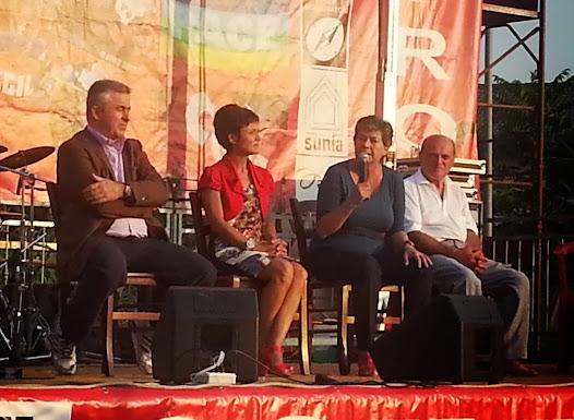 Susanna Camusso con Guido Tomassi, Manuela masliziola e Domenico De SantisSusanna Camusso con Guido Tomassi, Manuela Maliziola e Domenico De Santis