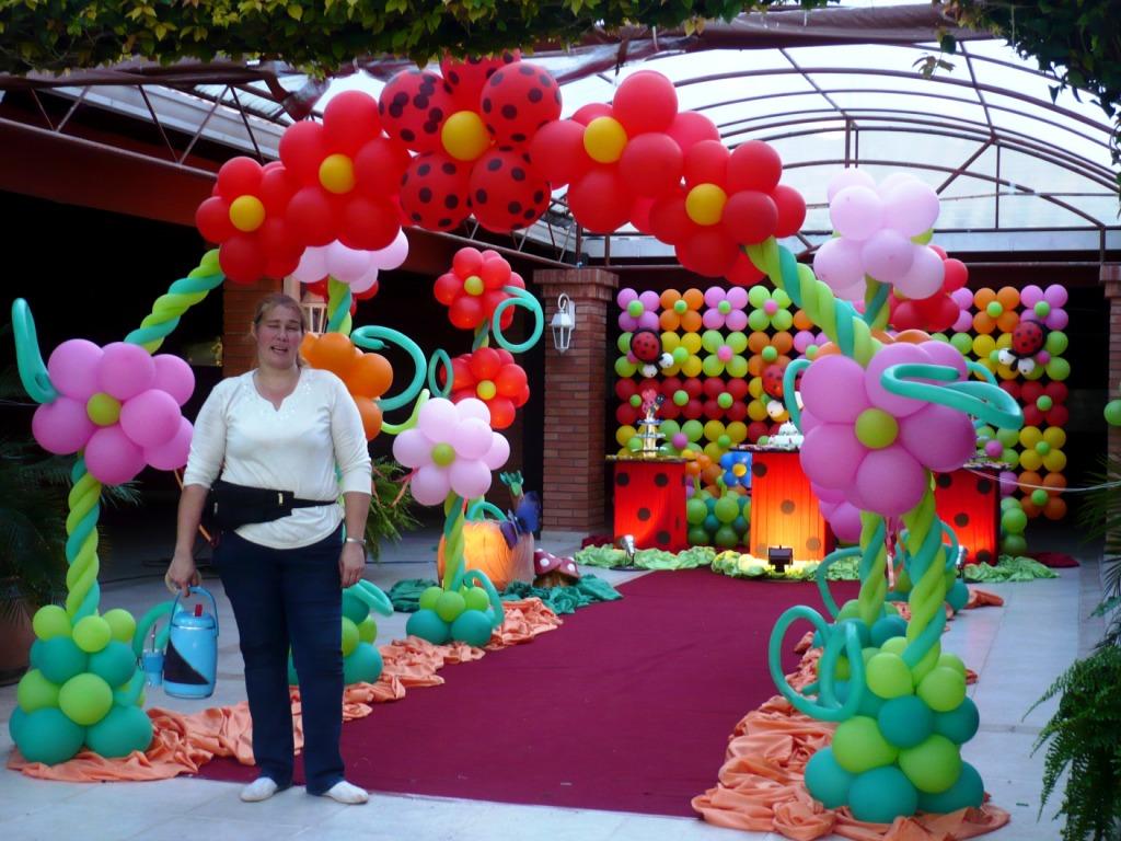 Star magic decoracion de fiestas y eventos decoracion infantil con mural de globos flotantes de - Decoracion fiesta jardin ...