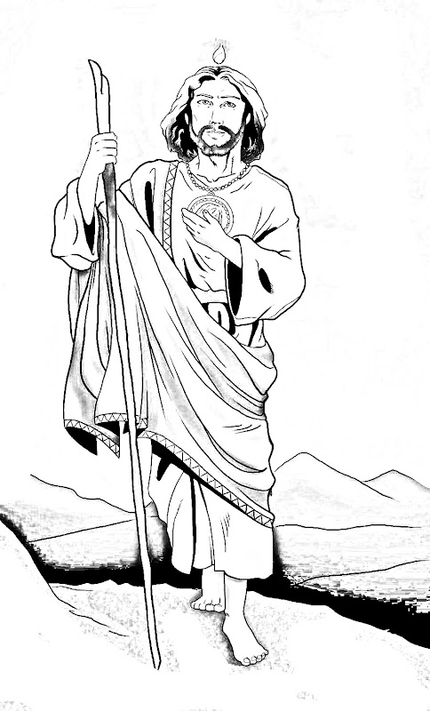 st jude thaddeus coloring pages