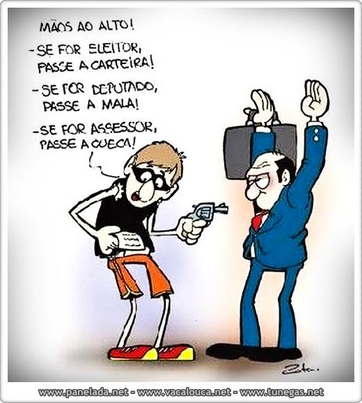 Imagem Engraçada - Assaltando Políticos