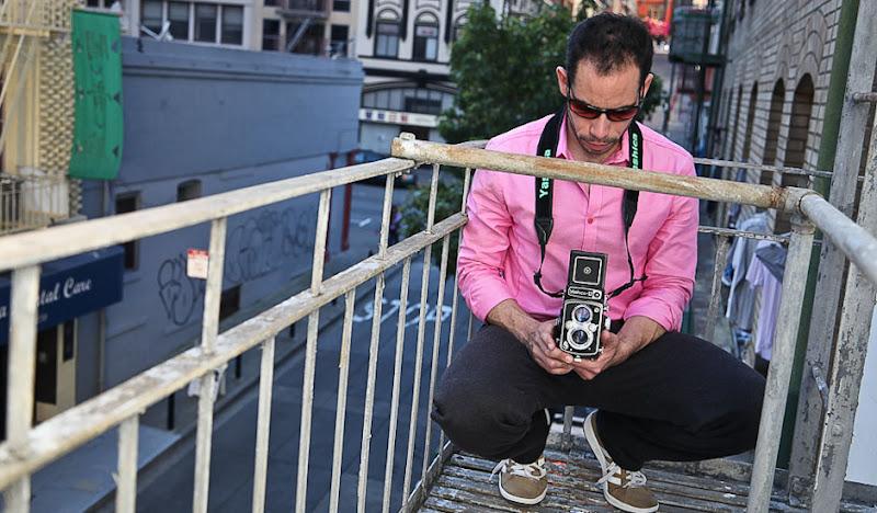 Gray Dress Pant Sweatpants: Old-Time Camera