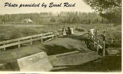 McCutcheon bridge circa 1905 photo provided by Errol Reid