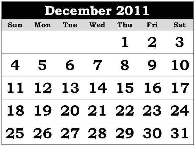 juliayunwonder december 2011 calendar