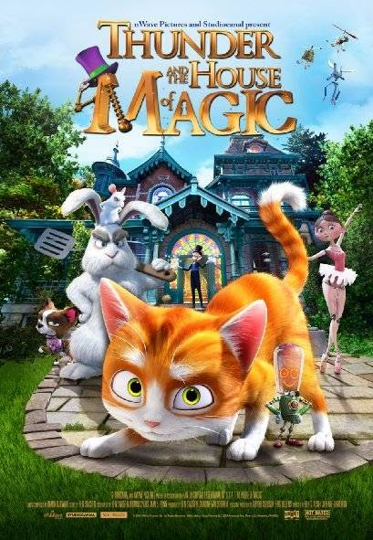 Poster Of English Movie Thunder and the House of Magic (2013) Free Download Full New Hollywood Movie Watch Online At Alldownloads4u.Com