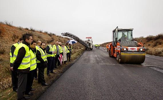 Obras en la M-100 para mejorar la seguridad vial en el Corredor del Henares