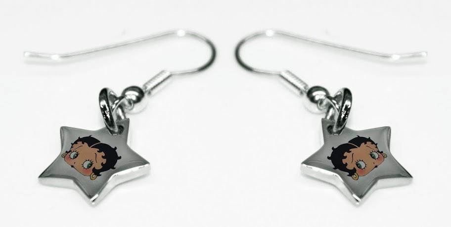 Betty Boop Stainless Steel Star Earrings