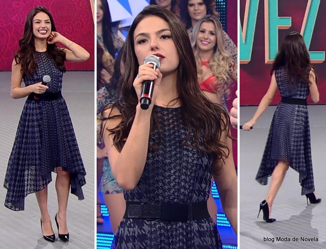 moda do programa do Faustão - look da Isis Valverde dia 17 de agosto