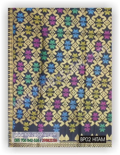 Kain Batik Murah, Baju Batik Modern, Batik Seragam Keluarga, BP02 HITAM