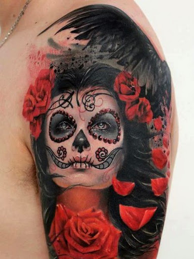 48 amazing sugar skull tattoo designs for Candy skull tattoo