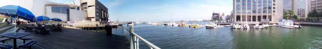 panoramic view of the Boston Harbor