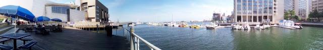 panoramic view of the Boston Harbor
