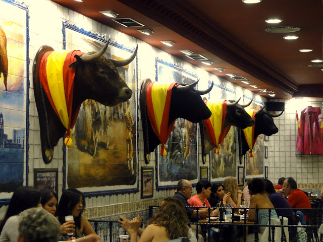 El Toro Bull Heads in Madrid, Spain