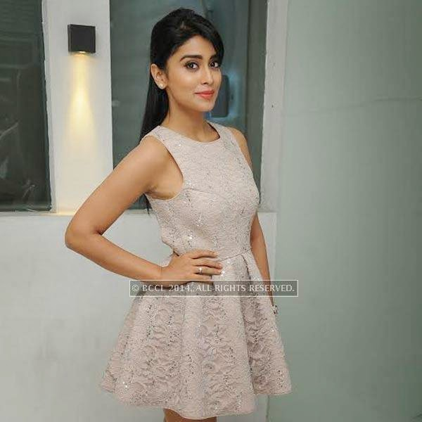 Shriya Saran during SIMA's party held at OTM, Hyderabad.