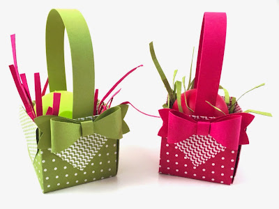Linda Vich Creates: Remnants of Easter. Treat boxes created with the Gift Box Punch Board.