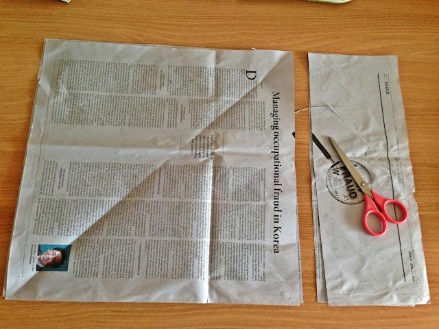 신문지 제기 만들기