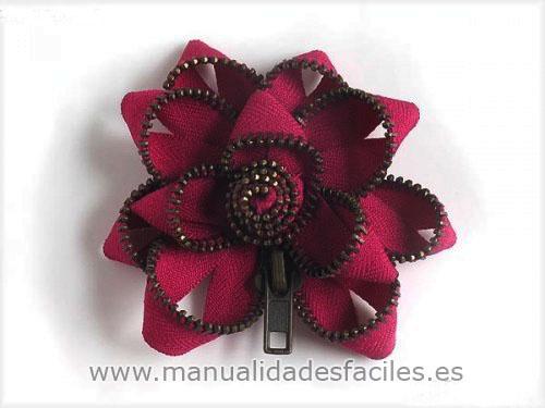 Manualidades Faciles Flores Con Cremalleras Recicladas
