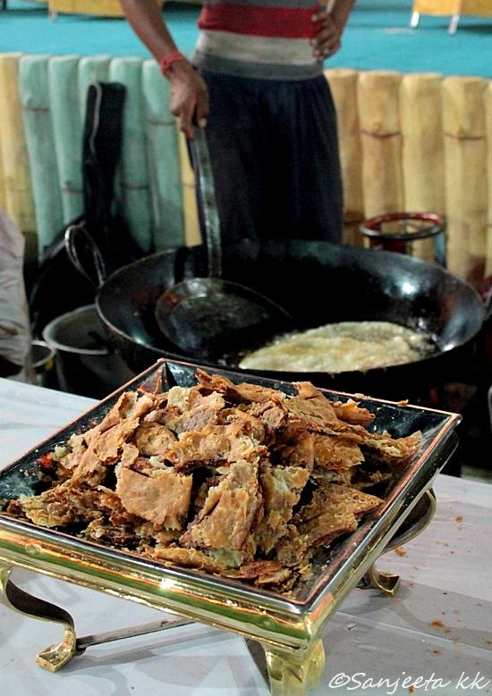 A Rajasthani wedding cremony and food