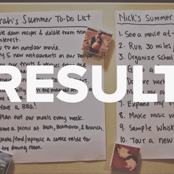 Our Summer To-Do List: Results!