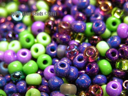 Grapes on the Vine Custom Seed Bead Mix by Spirit Bear Beads