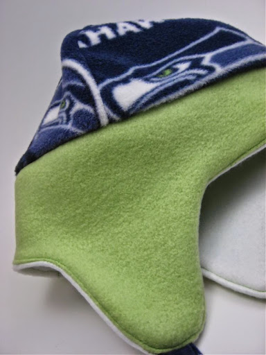 Seahawks Reversible Hat with Ear Flaps (in stock)