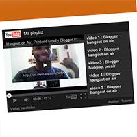 Gadget Lecteur Vidéos YouTube