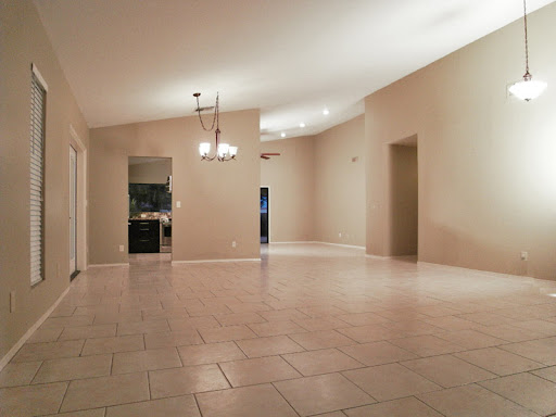 Sun Lakes AZ Homes for Sale: Living room view looking to Kitchen