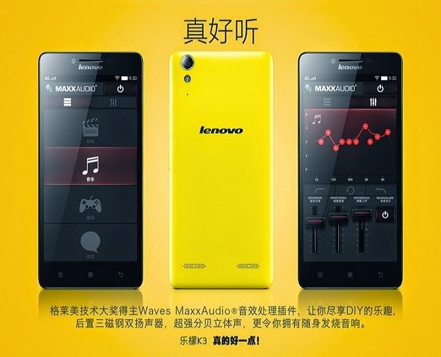 Lenovo chính thức công bố điện thoại Lenovo K3