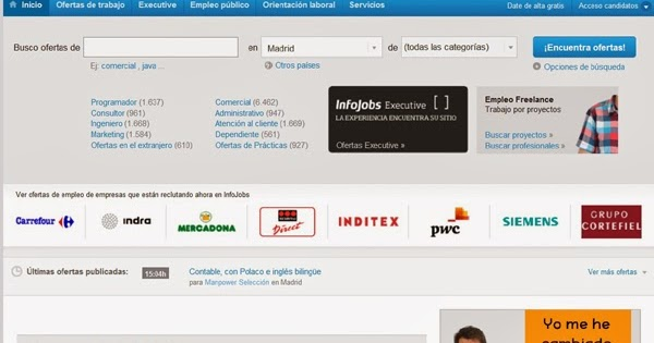 Top 10 p ginas web para buscar trabajo top 10 listas for Paginas web para buscar piso