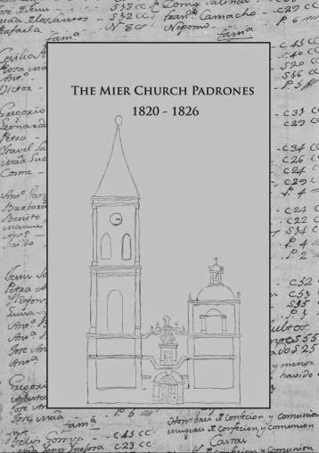 The Mier Church (Padrones) Censuses for 1820 - 1826