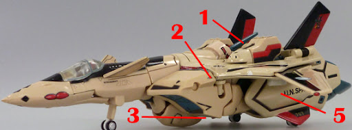 Macross VF-19A VALHALLA III Armament weapon position