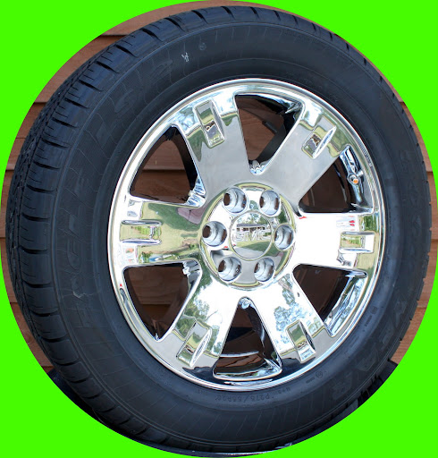 "2007 2013 New GMC Sierra Yukon Denali 20"" Wheels Goodyear 275 55R20 Tires Set 4"