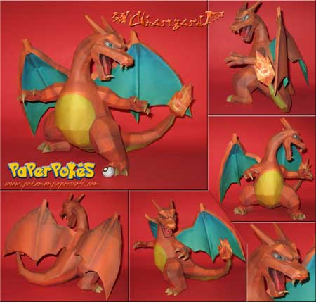 Pokemon Charizard Papercraft v2