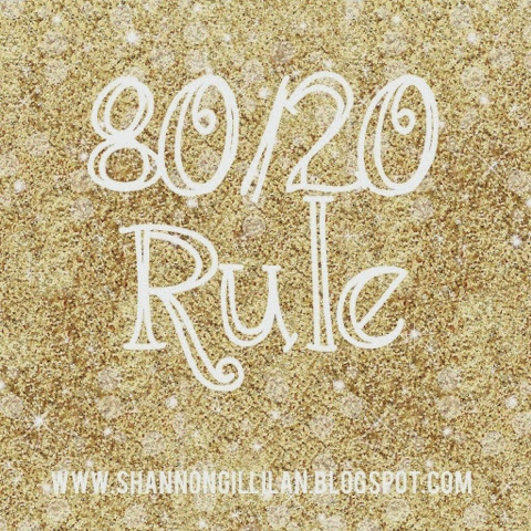 80/20 Rule Chalene Johnson www.shannongillilan.blogspot.com