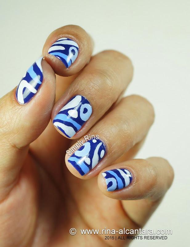 Blue Hoo Nail Art by Simply Rins